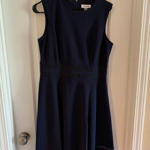 Calvin Klein navy dress