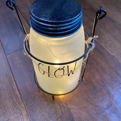Rae Dunn Frosted Mason Jar with Lights
