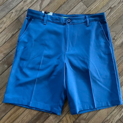 Izod Golf Classic Fit Wicking Sun Protection Mens Shorts Sz 34 Blue Flat Front