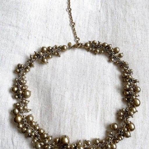 Premier Designs Necklace, Tiny Bubbles, Matte Gold Tone Necklace