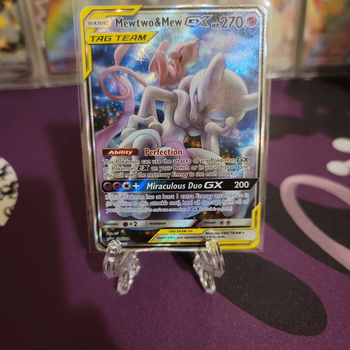 Mewtwo and mew GX