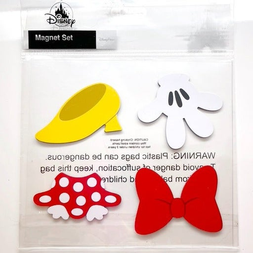 Minnie Mouse Shoe, Skirt, Bow and Glove Magnets NEW