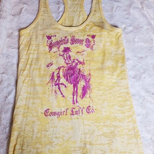 Cowgirl Tuff Company Yellow Bucking Hors