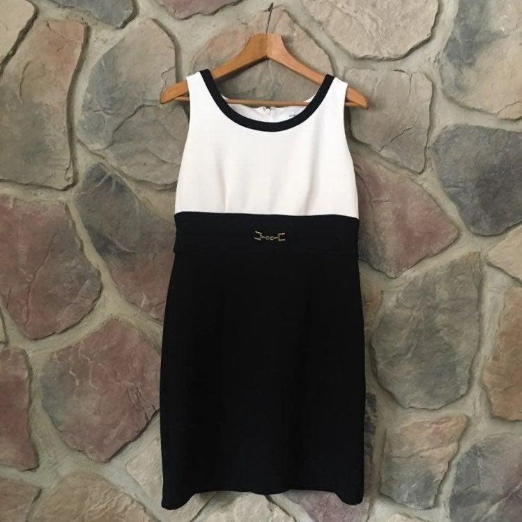 Studio One Black White Pencil Dress 8P