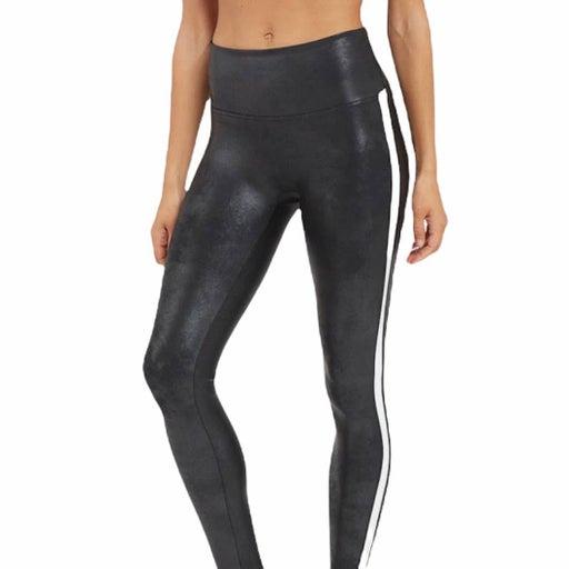 Spanx Faux Leather Side Stripe Leggings L