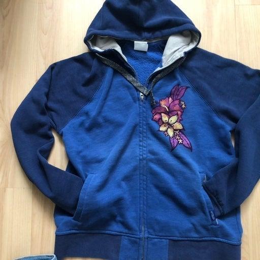 Crazy Shirt zip up Flower Hoodie