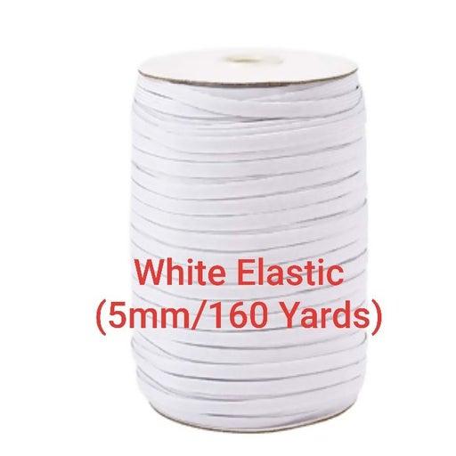 Elastic White 5mm/160 Yards