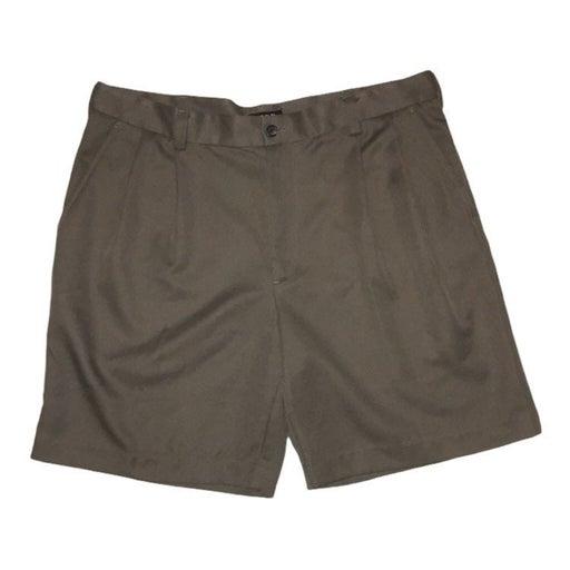 IZOD XFG Greenish pleated polyester Dress Shorts