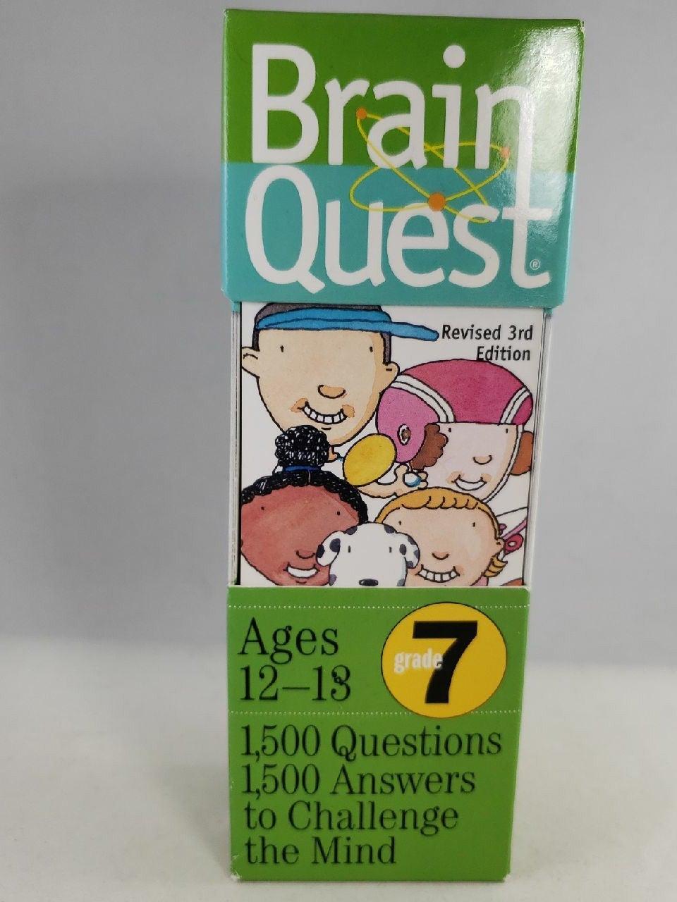 Brain Quest Grade 7 Trivia Cards