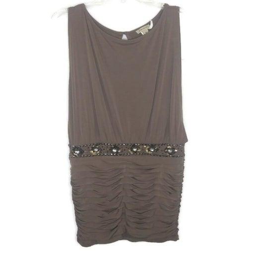 Nikibiki Brown Rhinestoned Dress