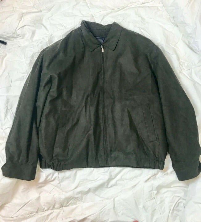 New Jos A Bank Olive Green Bomber Jacket
