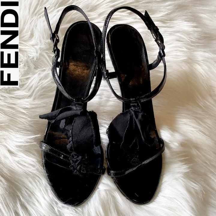 FENDI Ankle Strap Heels