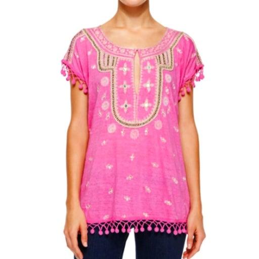 Calypso St. Barth Ordia tee pink tunic