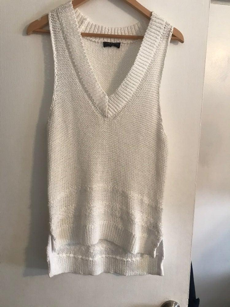 Rag and Bone White Knit top