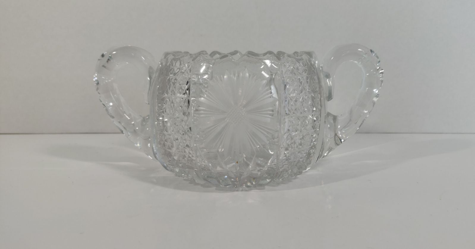 Antique Cut Glass Sugar Bowl