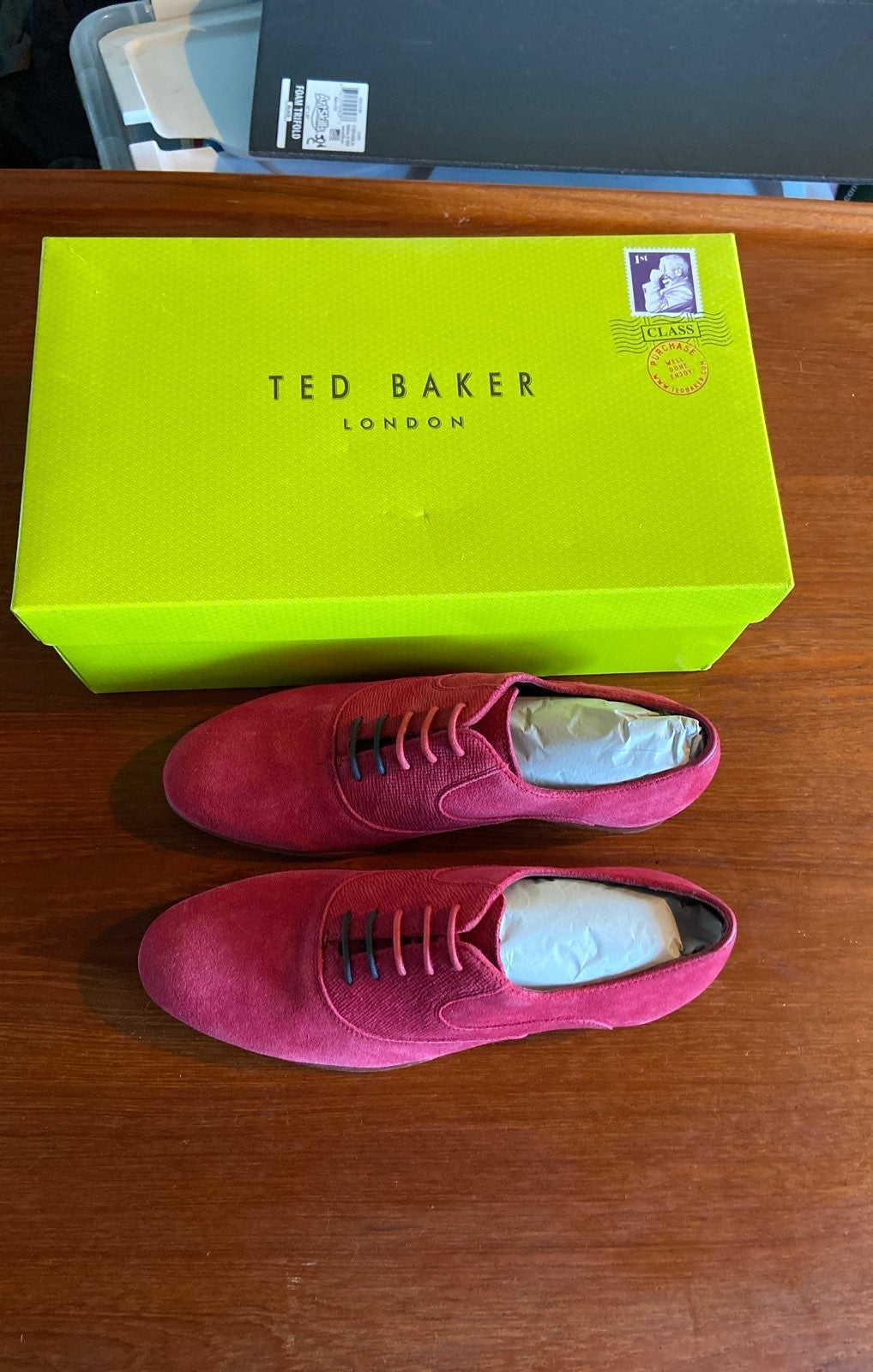 Ted Baker NEW pink suede shoes sz 8