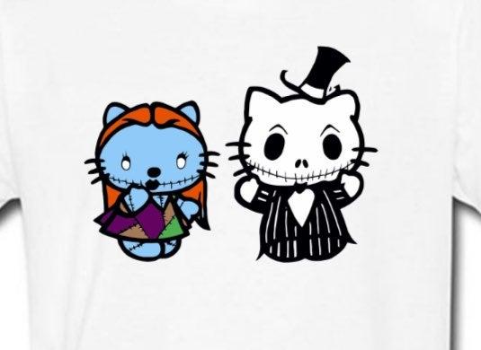 Custom Jack and Sally shirt ANY SIZE