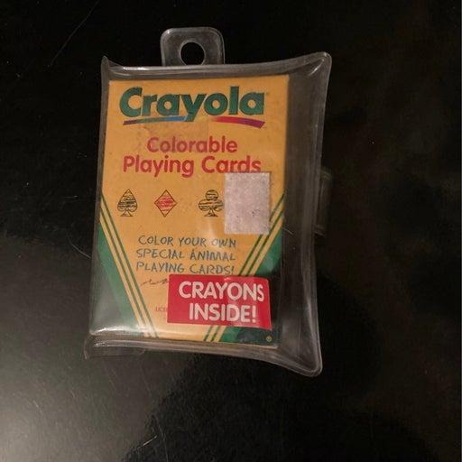 Crayola playing cards
