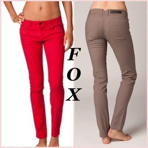 FOX Dark Red Sound Pant Size 0