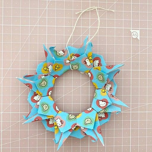 Hello Kitty Sanrio Origami Crane Wreath