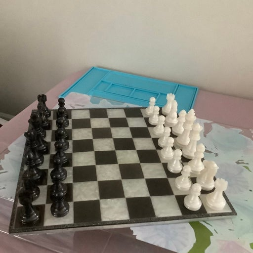 Resin Chess and Checker set