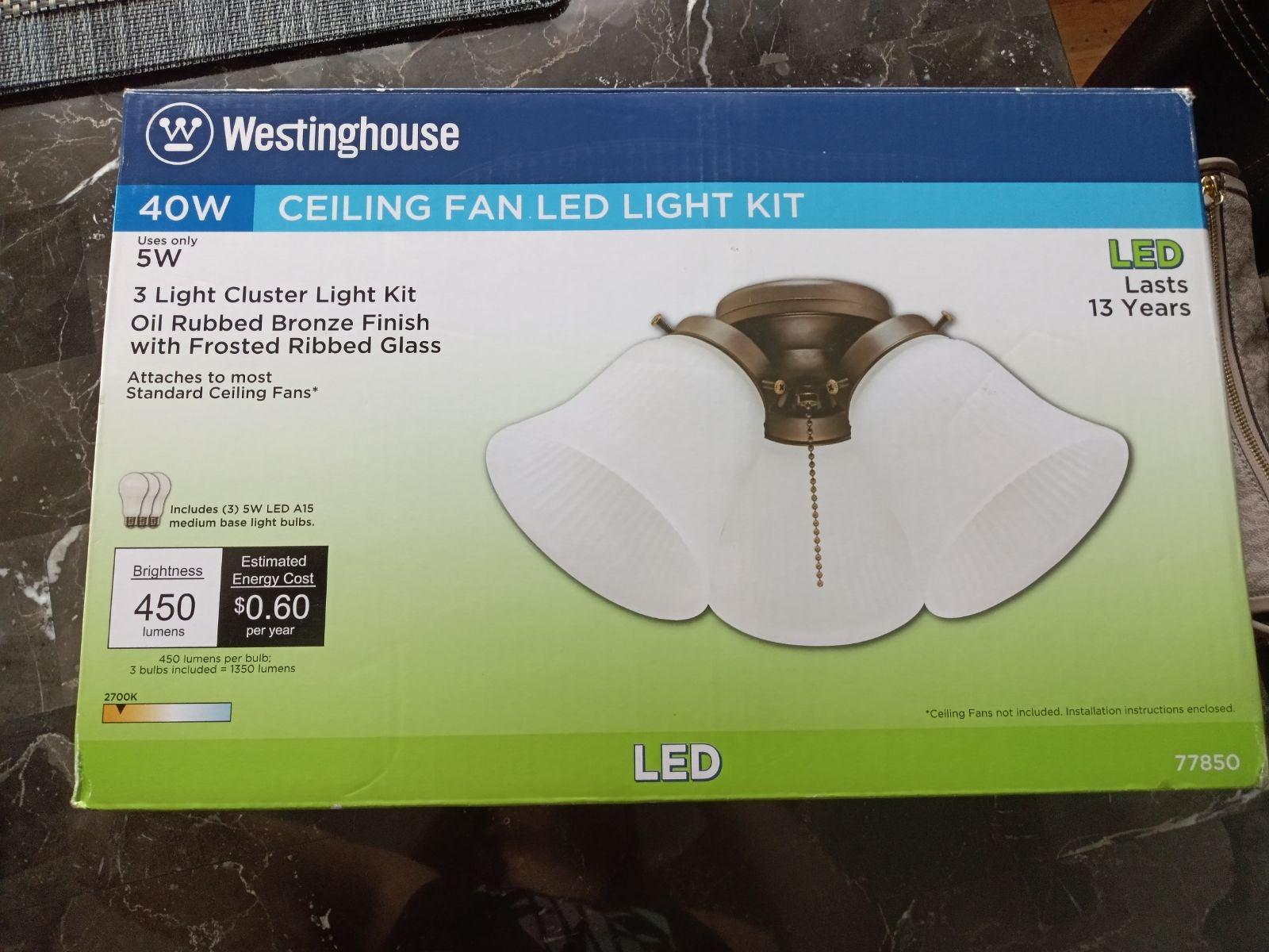 Ceiling fan led light kit