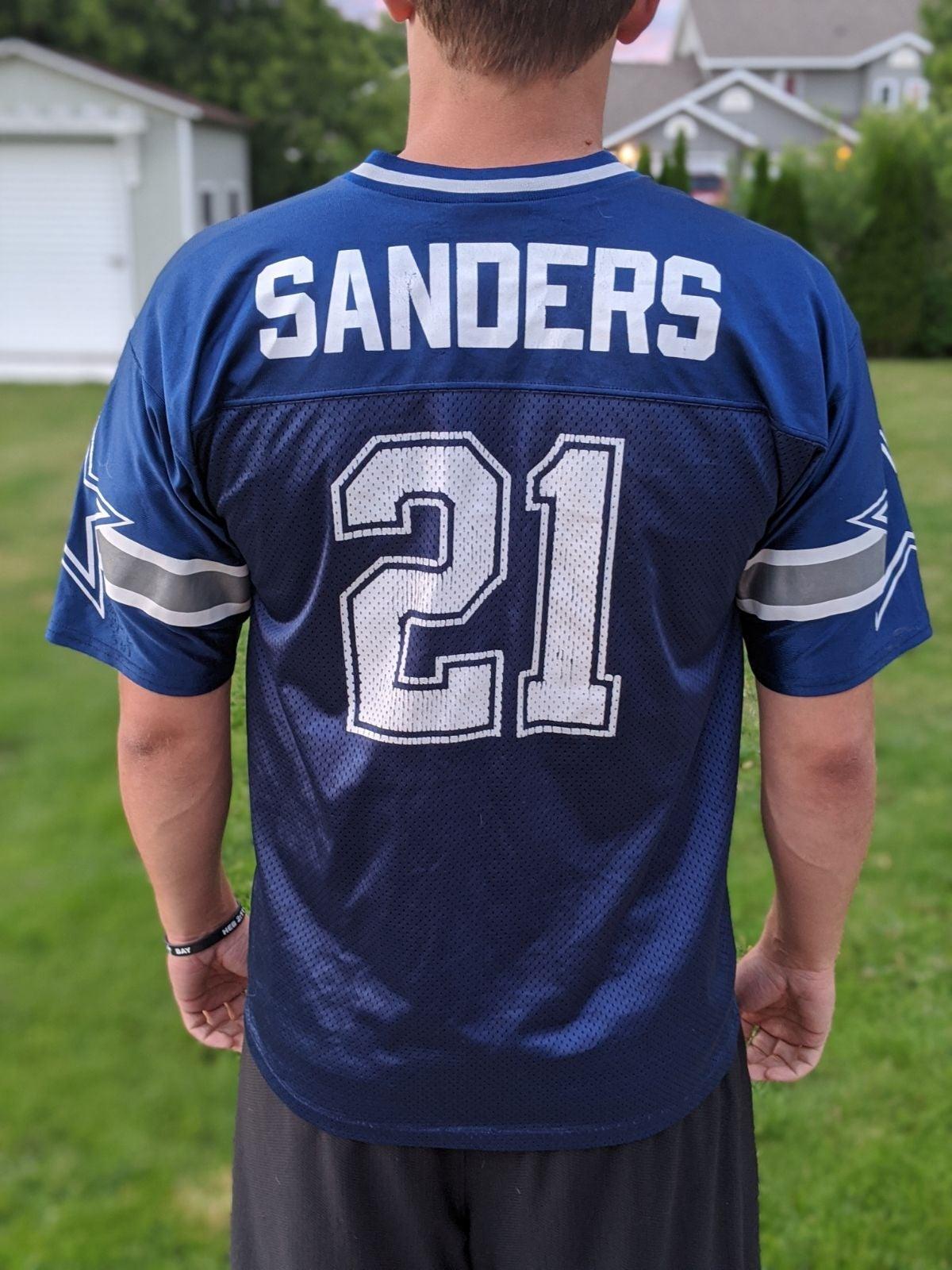 Vintage Deion Sanders Cowboys Jersey