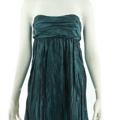 CALYPSO Blue Silk Strapless Dress Size 0