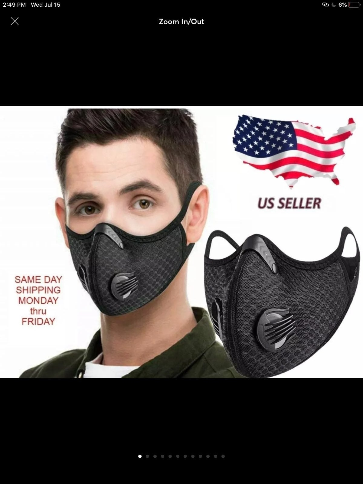 Cloth mask with filter adult