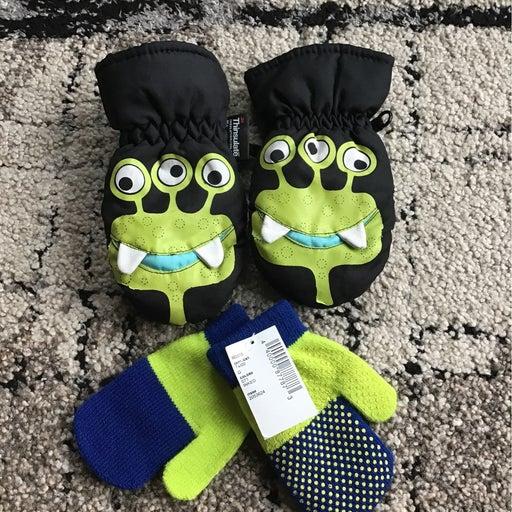 Toddler gloves 2 pairs