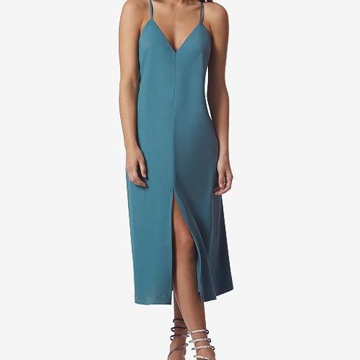 Avec Les Filles turquoise Slip Dress, XS